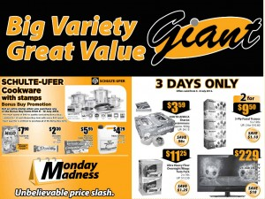 Giant 3 days supermarket promotions