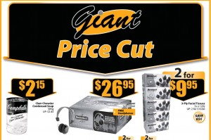 Giant Price Cut Supermarket promotions