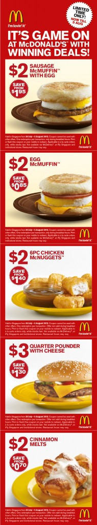 McDonald Game On Week 3 Promotions