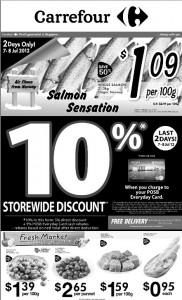 carrerfour salmon sensation supermarket promotions