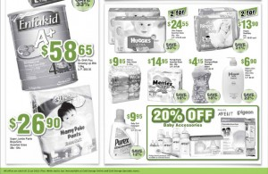 cold storage baby savers supermarket promotions