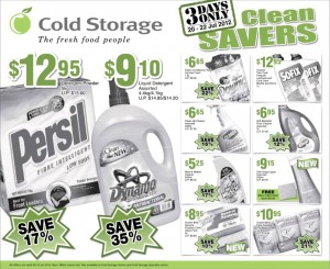 cold storage supermarket promotions cleaners