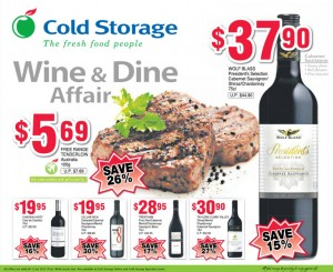 cold storage wine supermarket promotions