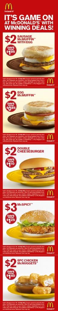 macdonald $2 & $3 burgers promotions