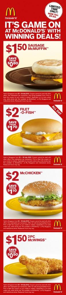 mcdonald coupons
