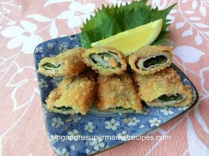 Deep fried shiso pork roll recipes