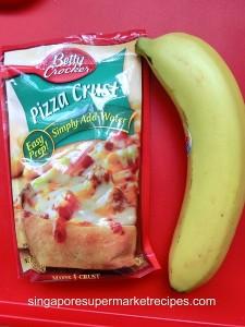 Banana Choco Pizza