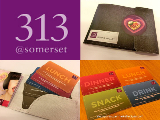 313 dining wallet cards