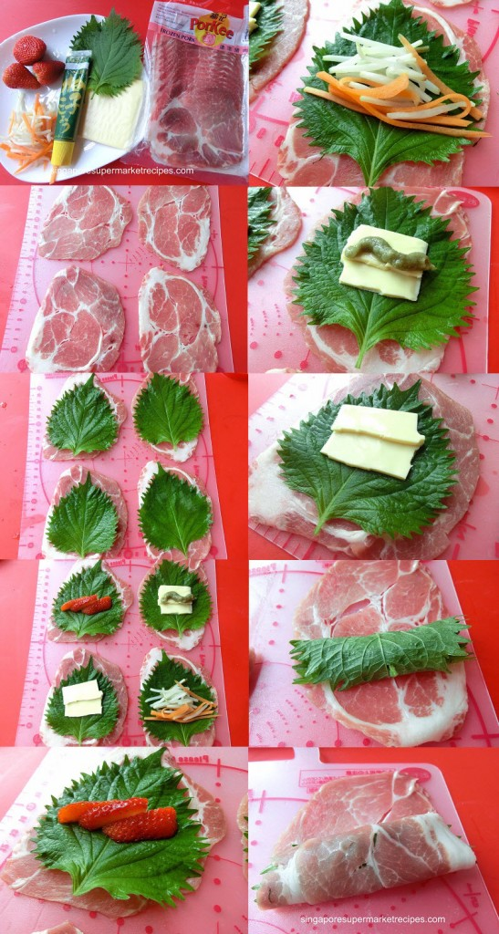 Wrapping of Deep Fried Shiso Pork Roll