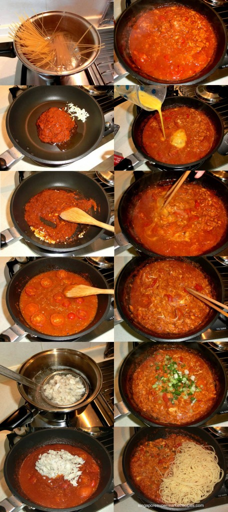 how to cook chilli crab pasta