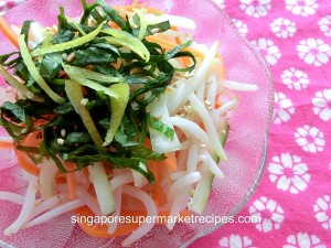 shiso bean sprout salad