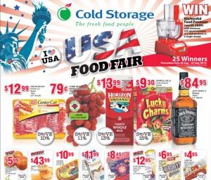 Cold Storage USA Food Fair supermarket promotions