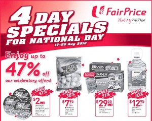 Fairprice 4 days only supermarket promotions