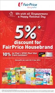 Fairprice 5 percent discount supermarket promotions