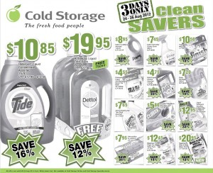 cold storage clean savers supermarket promotions
