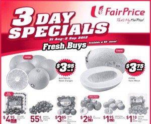 fairprice 3 days only supermarket promotions