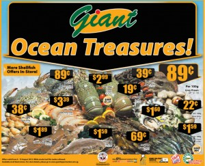 giant ocean treasures  supermarket promotions