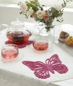 pink butterfly trivet