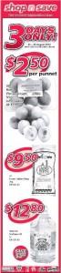 shop n save 3 days only supermarket promotions