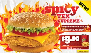texas chicken spicy burger promotions