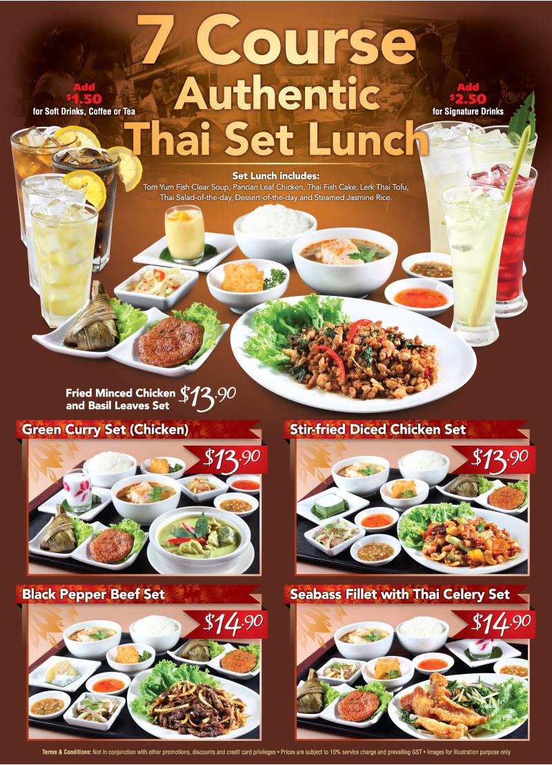 Thai Restaurant Set Menu