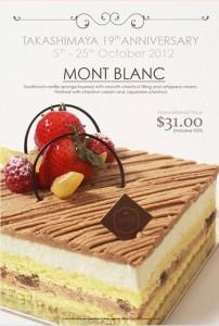Rive Gauche Mont Blanc Cake Promotion