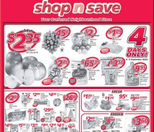 Shop n save weekly supermarket promotions