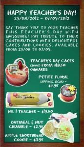 Swissbake teacher's day promotions
