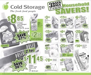 cold storage household supermarket promotions