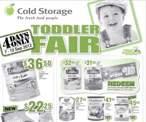 cold storage toddler supermarket promotions