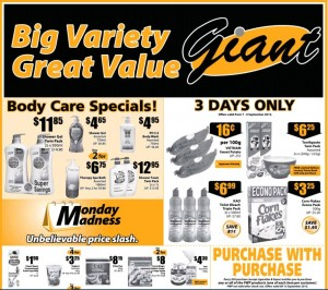 giant big savings supermarket promotions