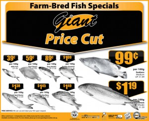 giant fish supermarket promotion