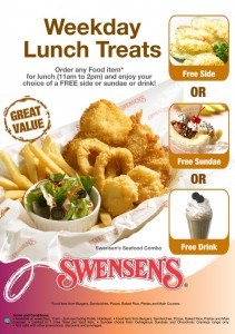 swensens weekday lunch treat promotions