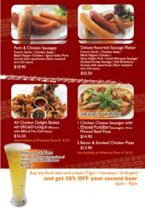 Coffee Club Sausage & Beer Promotions
