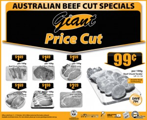 Giant Australian Beef Supermarket Promotions