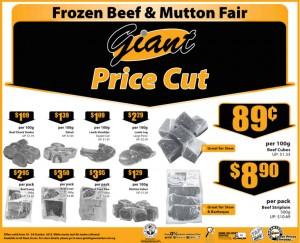 Giant Frozen beef & mutton fair