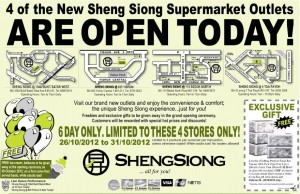Sheng Siong supermarket outlets open