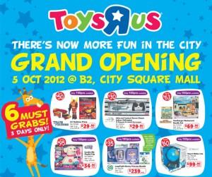 Toys R Us Singapore City Square Mall
