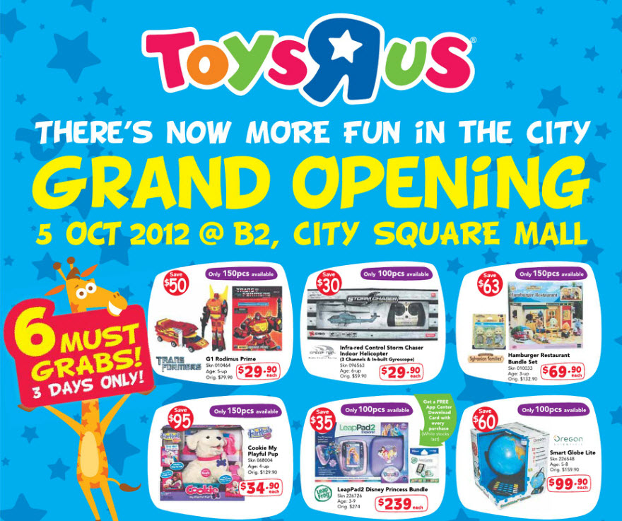 Southeast Big Boys Toys : Babies r us singapore grand opening at city square mall