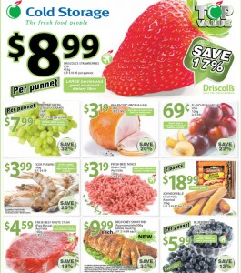 cold storage fruits Supermarket promotions