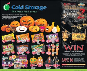cold storage halloween supermarket promotions