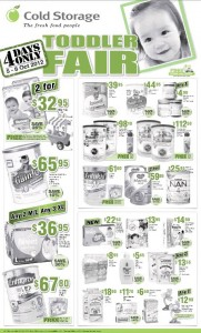 cold storage toddler fair supermarket promotions