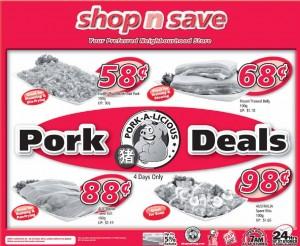 shop n save pork Supermarket promotions