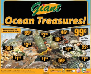 Giant seafood supermarket promotions