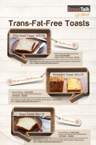 breadtalk trans fat free bread promotions