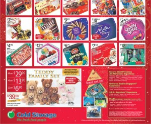 cold storage christmas supermarket promotions