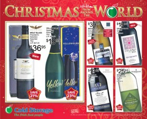 Cold Storage Christmas wine supermarket promotions