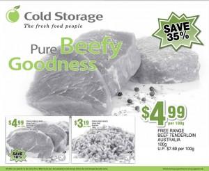 Cold storage beef supermarket promotions