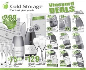 Cold storage vineyard supermarket promotions