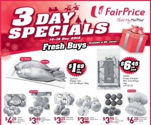 Fairprice 3 days supermarket promotions